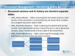 document management versioning internals
