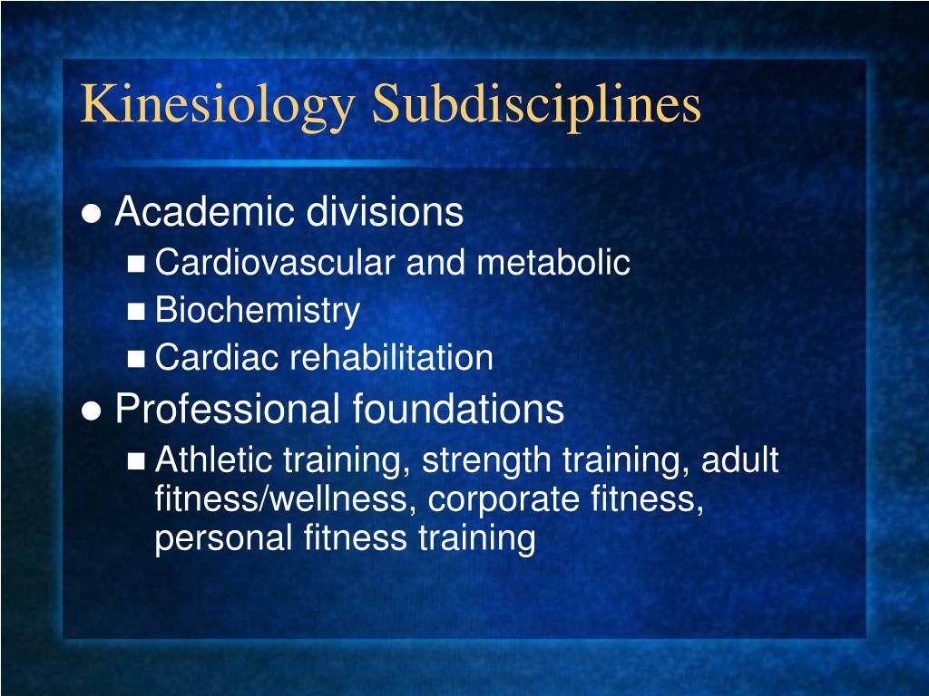 Kinesiology Subdisciplines