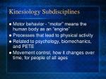 kinesiology subdisciplines17