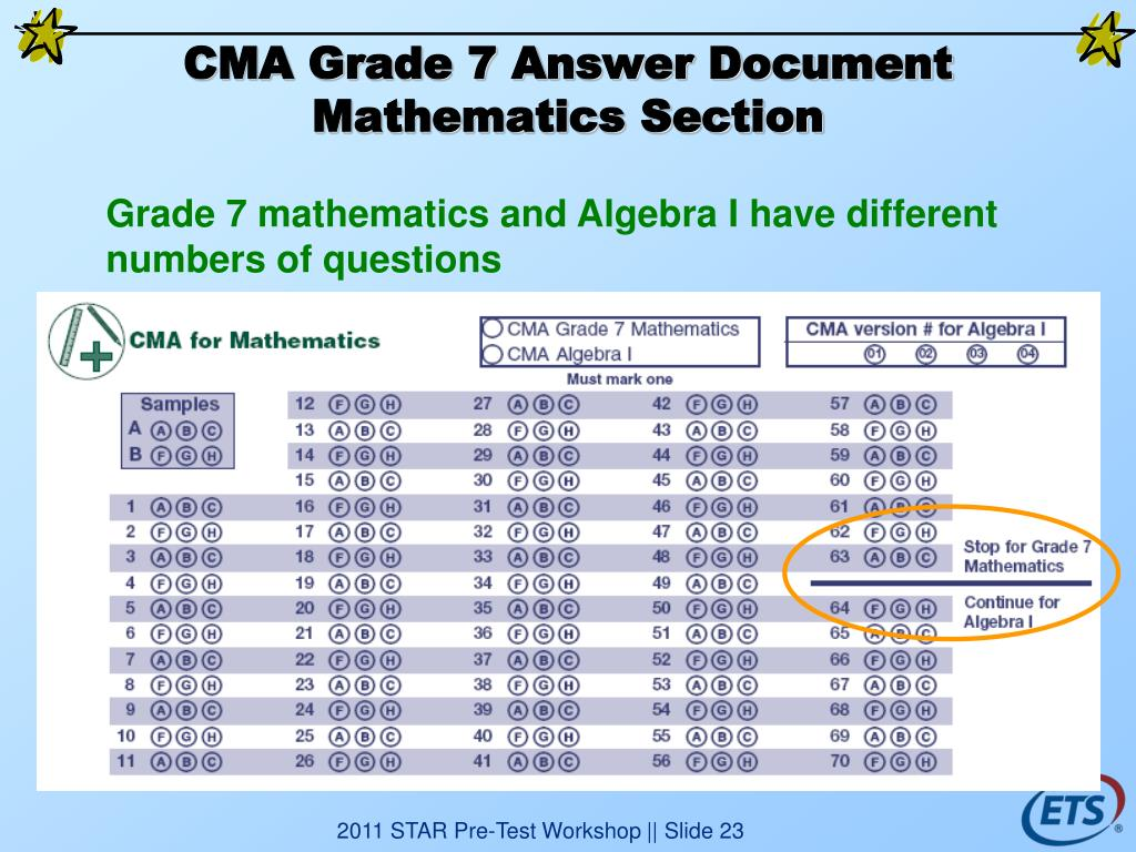 CMA Grade 7 Answer Document