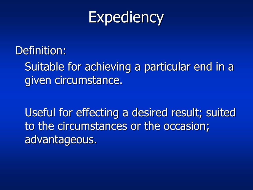 expediency l.