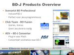 bd j products overview