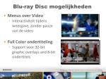 blu ray disc mogelijkheden
