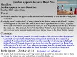 jordan appeals to save dead sea