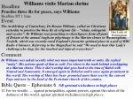 williams visits marian shrine