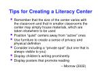 tips for creating a literacy center