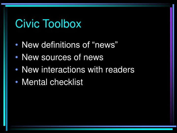 Civic Toolbox