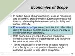 economies of scope