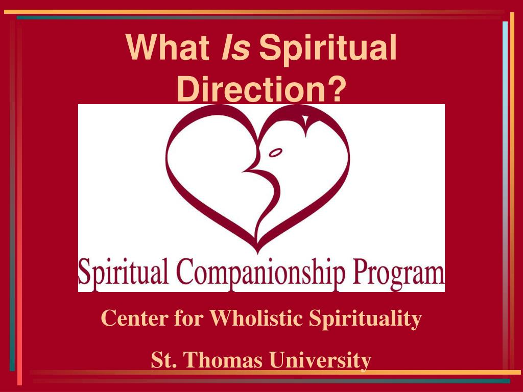 what is spiritual direction l.