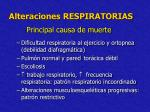 alteraciones respiratorias