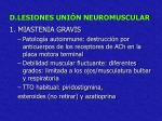 d lesiones uni n neuromuscular