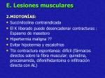 e lesiones musculares32