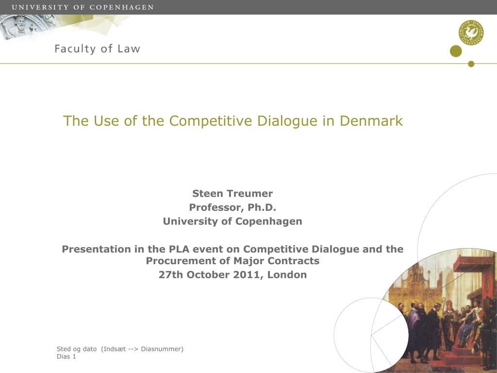 the use of the competitive dialogue in denmark l.