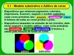 5 1 modelo substrativo e aditivo de cores