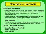 contraste e harmonia