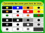 convers o das cores para tons de cinza