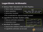 logarithmic arithmetic