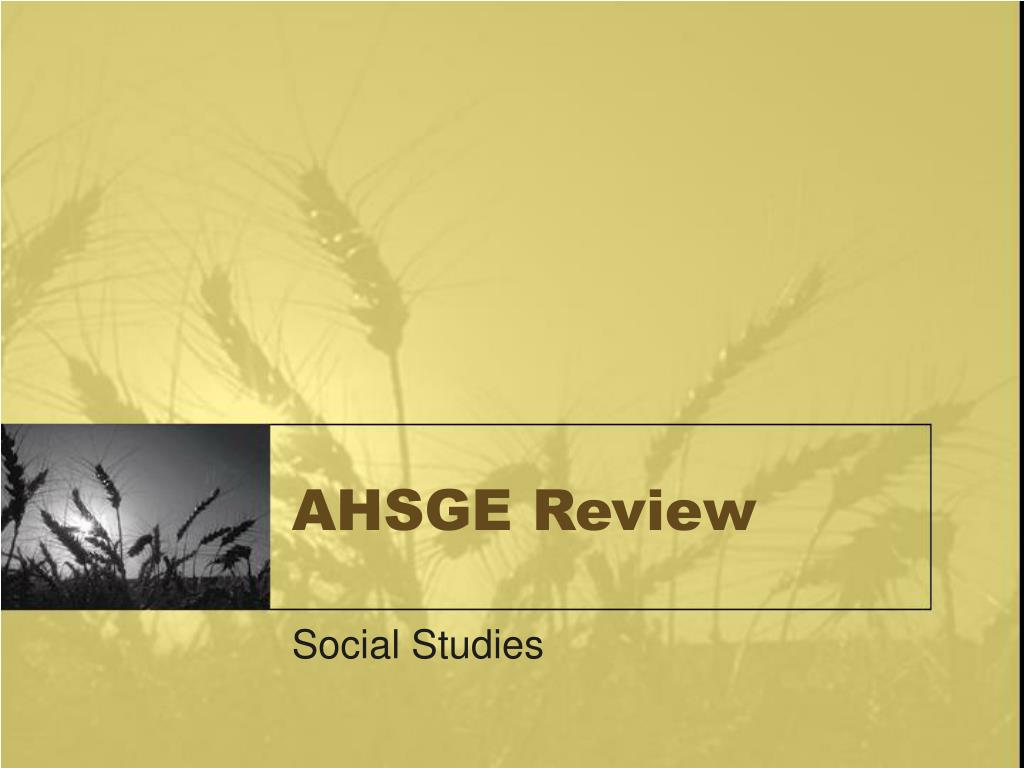 ahsge review l.