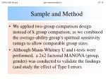 sample and method24