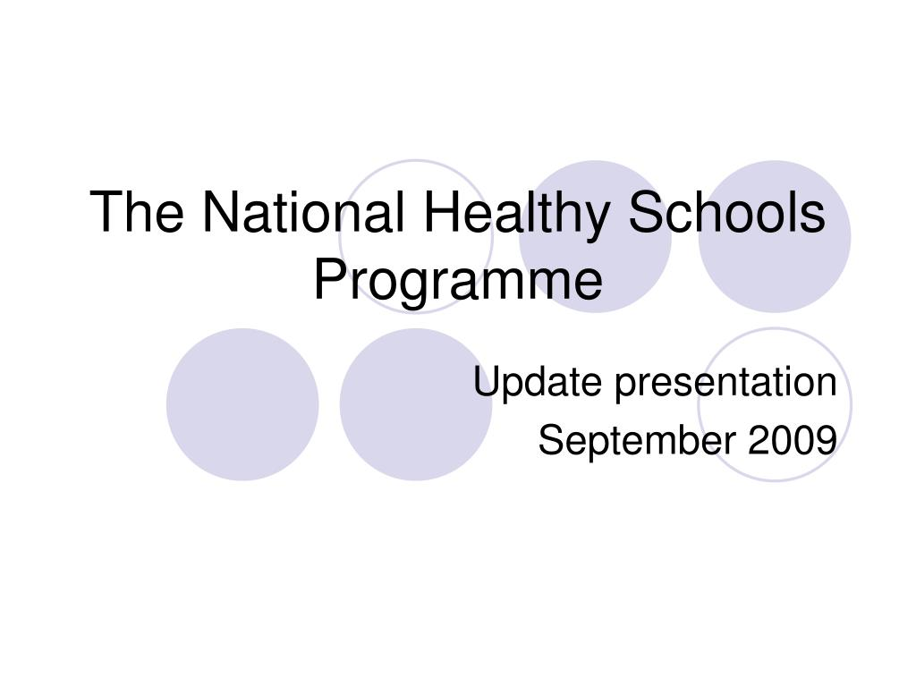 the national healthy schools programme l.