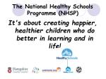 the national healthy schools programme nhsp