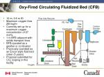 oxy fired circulating fluidized bed cfb