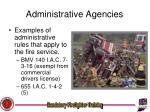 administrative agencies11