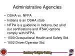 administrative agencies12