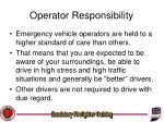 operator responsibility