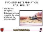 two step determination for liability