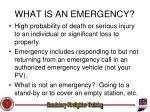 what is an emergency