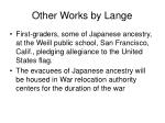 other works by lange