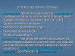 il diritto dei domini coloniali12