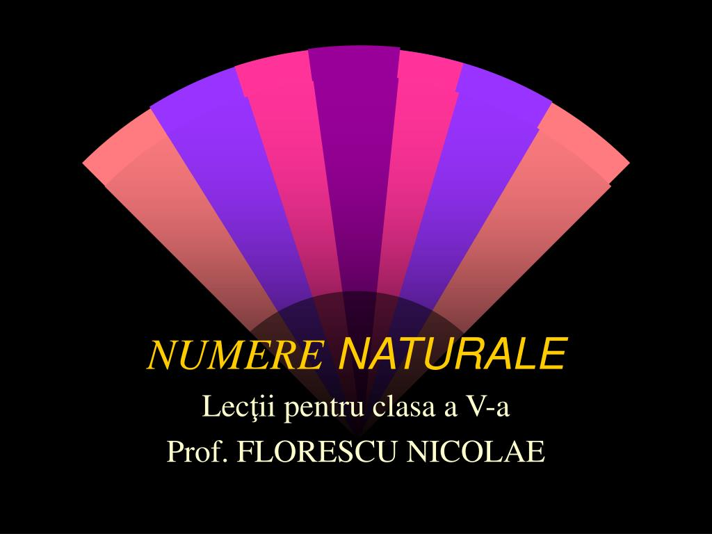 numere naturale l.