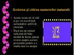 scrierea i citirea numerelor naturale