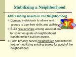mobilizing a neighborhood