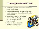 training facilitation team
