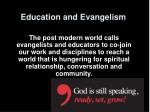education and evangelism14