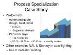 process specialization case study