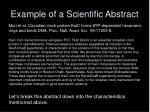 example of a scientific abstract
