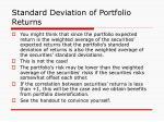 standard deviation of portfolio returns