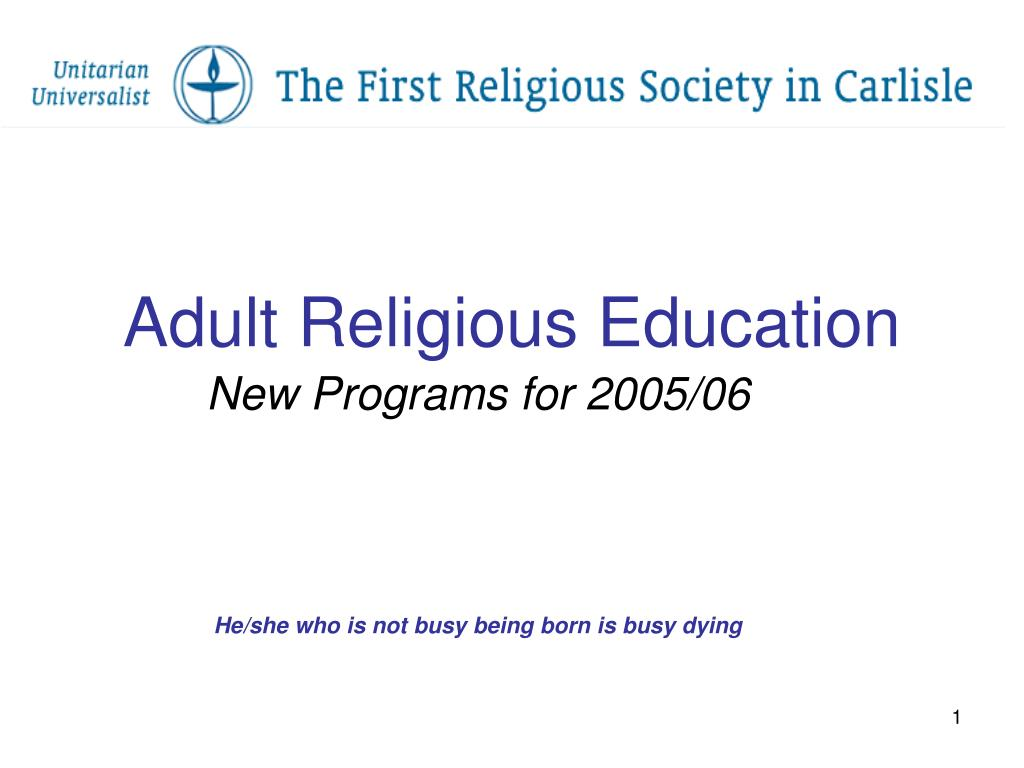 adult religious education l.
