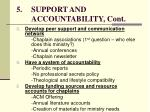 5 support and accountability cont