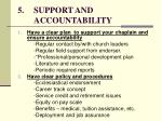 5 support and accountability