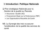 i introduction politique nationale