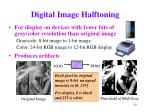 digital image halftoning