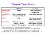discrete time filters11