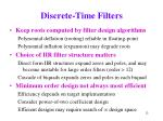 discrete time filters12