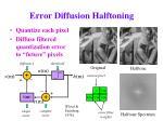 error diffusion halftoning