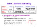error diffusion halftoning23
